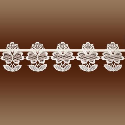 Feenhaus-Spitzenkante Sina 12 cm Hoch Blumenspitze Detailansicht