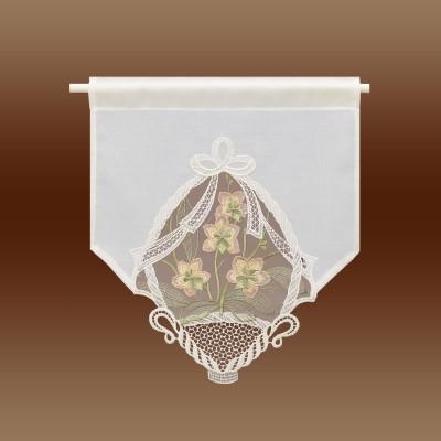 Landhausgardine Scheibenhänger Orchidee lachs kurze Variante