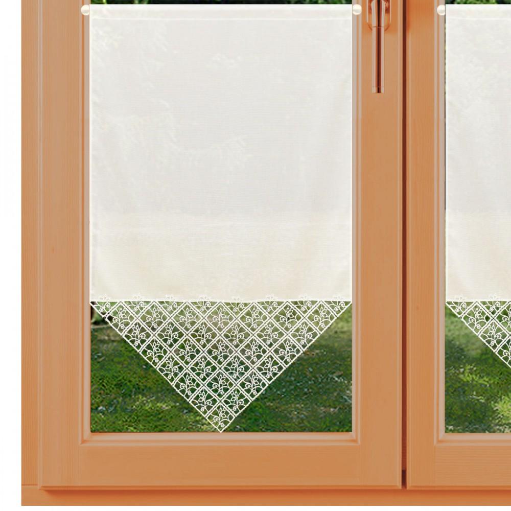 Scheibenhänger Sybill Plauener Spitze am Fenster