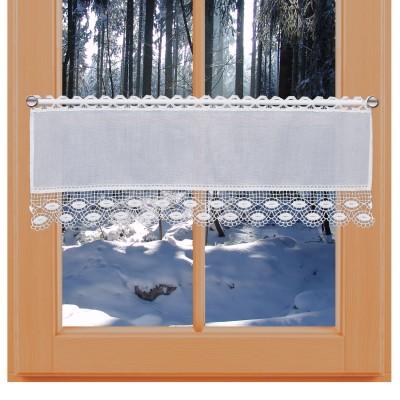 Feenhausgardine Helen Plauener-Spitzengardine Winterfenster
