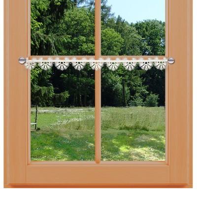 Kleine Feenhaus-Spitzenkante Loni 6,5 cm Blumenspitze natur