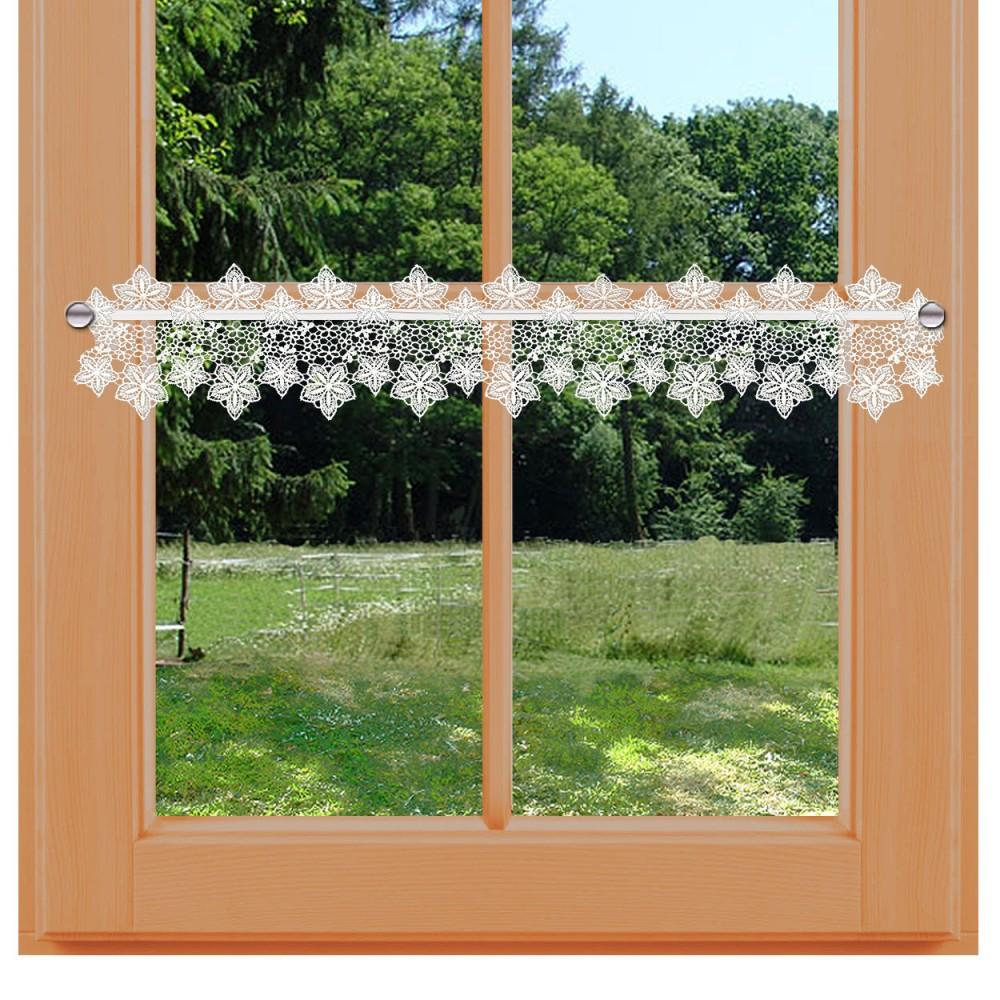Feenhaus-Spitzenkante Jolanda 13 cm Blumenspitze natur