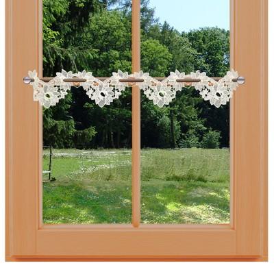 Feenhaus-Spitzengardine Miranda 10 cm am Fenster