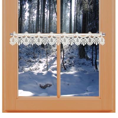 Feenhaus-Spitzenkante Seldi 9 cm am Winter-Fenster