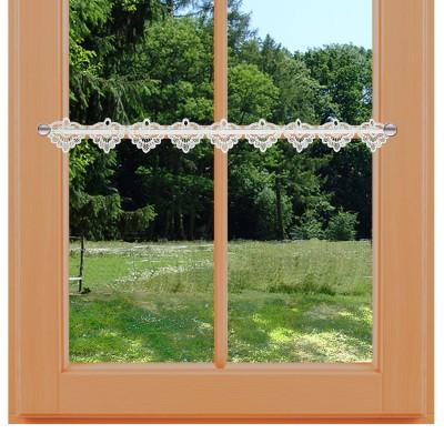 Feenhaus-Spitzenkante Emma 8 cm am Sommer-Fenster