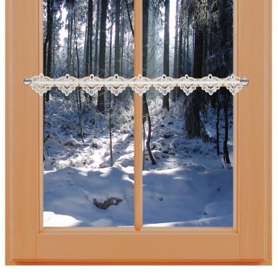 Feenhaus-Spitzenkante Emma 8 cm am Winter-Fenster