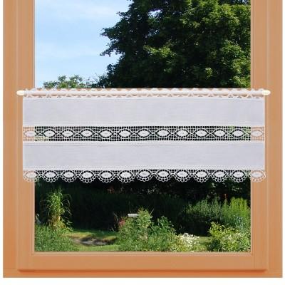 Feenhausgardine Helene 26 cm am Fenster