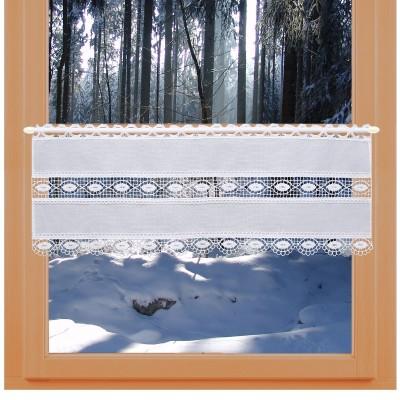 Feenhausgardine Helene 26 cm an einem Winter-Fenster