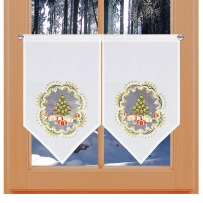 Winter-Scheibenhänger Weihnachts-Bescherung Dekobeispiel