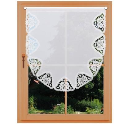 Landhausgardine Scheibenhänger Beate groß am Fenster