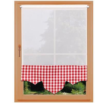 Scheibenhänger Helena mit Karodesign komplett an einem Fenster