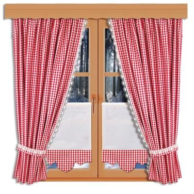 Scheibenhänger Helena mit Karodesign mit passenden Dekoschals an einem Winterfenster