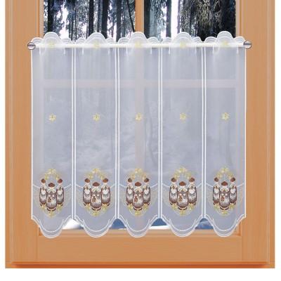 Weihnachts-Scheibengardine Kurrende 60 cm am Fenster