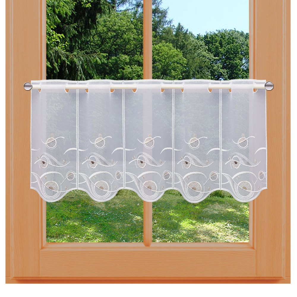 Scheibengardine Calinda modern 30 cm am Fenster