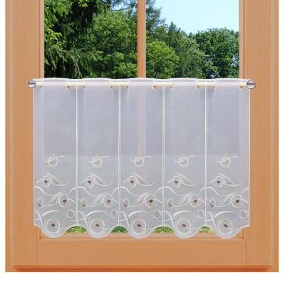 Scheibengardine Calinda modern 45 cm an einem Fenster