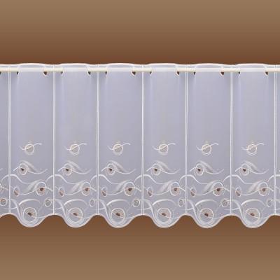 Scheibengardine Calinda modern 45 cm Komplettansicht