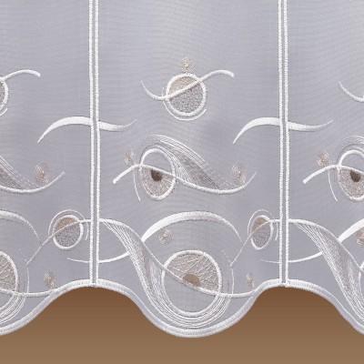 Scheibengardine Calinda modern Detailansicht Muster