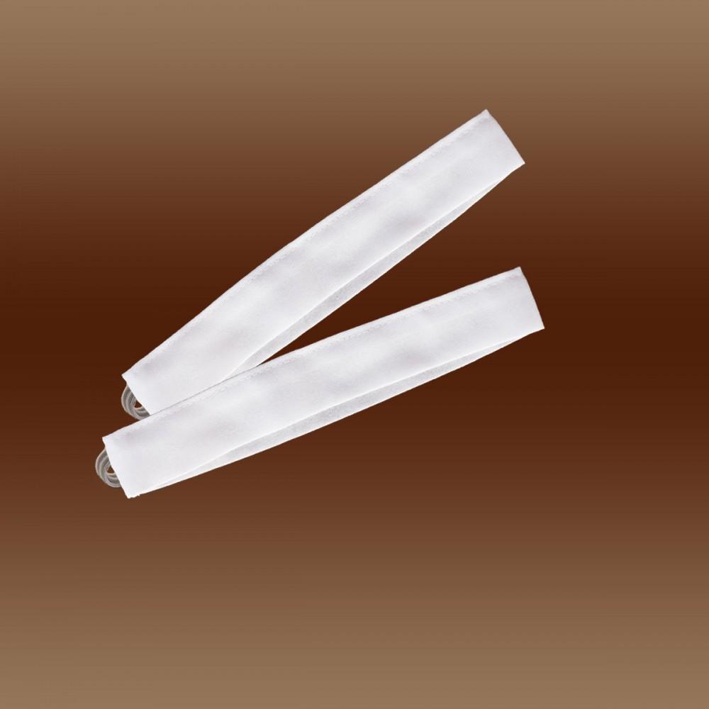 Raffhalter Raffbänder uni weiß 3 x 30 cm