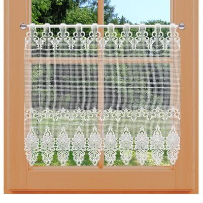 Flächen-Luftspitzengardine Farisa am Fenster 73 cm