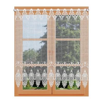 Flächen-Luftspitzengardine Farisa am Fenster 90 cm