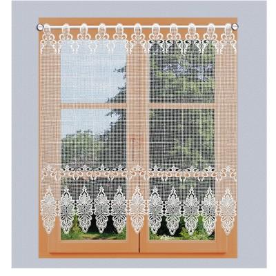 Flächen-Luftspitzengardine Farisa am Fenster