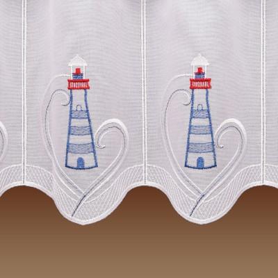 Maritime Scheibengardine Leuchtturm Badgardine Detailbild