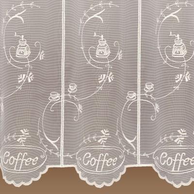 Kaffeehaus-Gardine Coffee Florentiner Stil Detailansicht