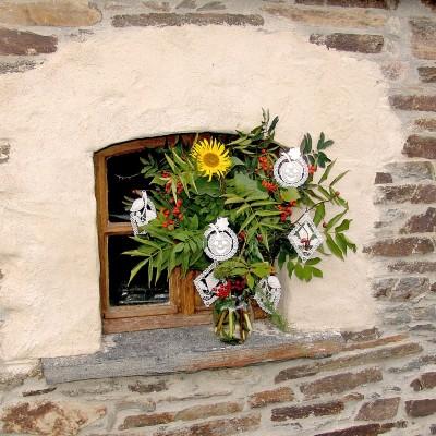 Herbstfreude 3-er Set Baumbehang Fensterbilder am Strauß