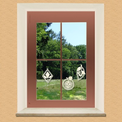 Herbstfreude 3-er Set Baumbehang Fensterbilder am Fenster