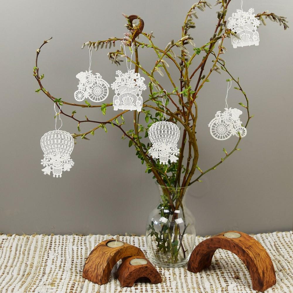 Blumenmobile 1 Set - 6 Stück  Glücksanhänger am Strauß