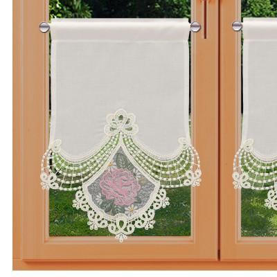 Scheibenhänger Serafina rosa am Fenster