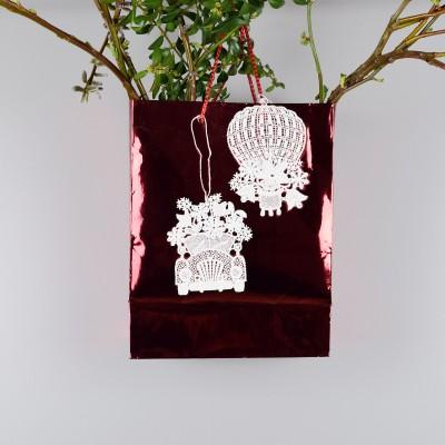 Blumenmobile 2 Stück  Glücksanhänger an Geschenktasche