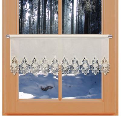 Feenhaus-Spitzengardine Kerzenschein natur Plauener Spitze