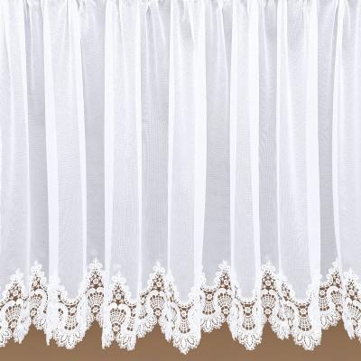 Edler Spitzen-Store Safira weiß mit aufwändig eingearbeiteter Spitzenkante - Einzelansicht