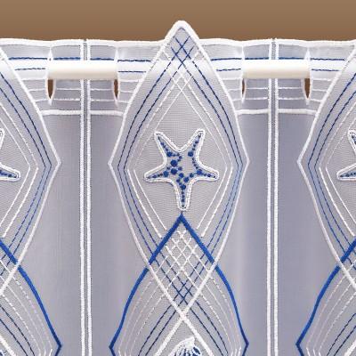 Scheibengardine Maritim Meerestiere aus Plauner Spitze Detailbild Seestern