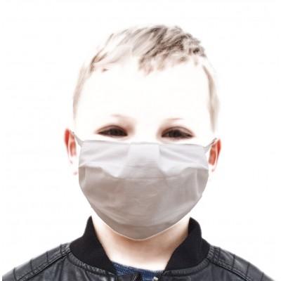 Mundschutz Gesichtsmaske für Kinder weiß zweilagig