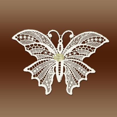 Schmetterling Klassisches Blumen-Fensterbild