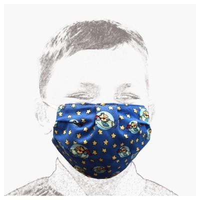 Mund-und Nasen-Maske Behelfs-Mundschutz 2lagig für Kinder mit Weltraum