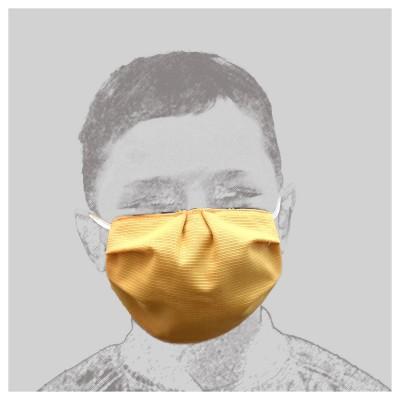 Mund-und Nasen-Maske Behelfs-Mundschutz 2lagig 2 Farbig gelbe Seite