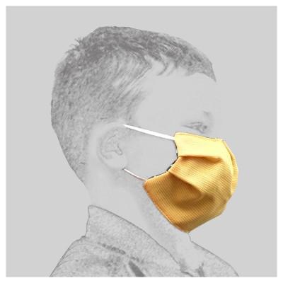 Mund-und Nasen-Maske Behelfs-Mundschutz 2lagig für Kinder Gelb von der Seite
