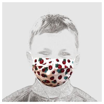 Mund-und Nasen-Maske Behelfs-Mundschutz 2lagig für Kinder mit Marienkäfern und Kleeblättern