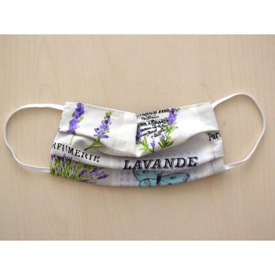 Mund-und Nasen-Maske Behelfs-Mundschutz 2lagig für Kinder mit Lavendel