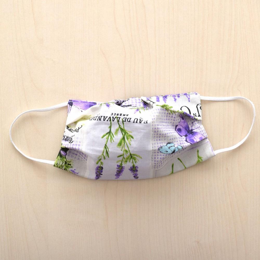 Mund- und Nasen-Maske Behelfs-Mundschutz mit Lavendel