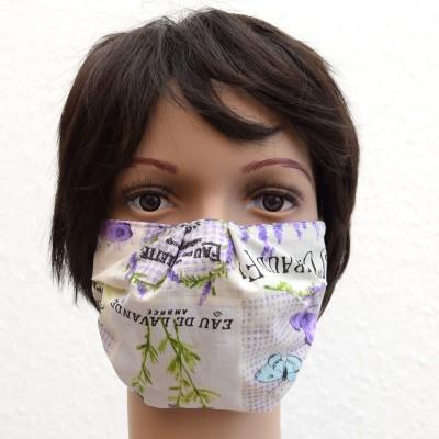 Mund- und Nasen-Maske Behelfs-Mundschutz mit Lavendel Beispiel