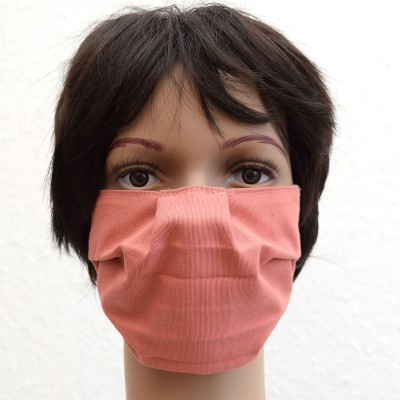 Mund- und Nasen-Maske Behelfs-Mundschutz in Lachs Beispiel