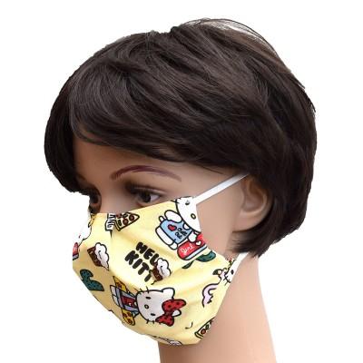 Mund- und Nasen-Maske Universalgröße Behelfs-Mundschutz mit süßer Katze von der Seite