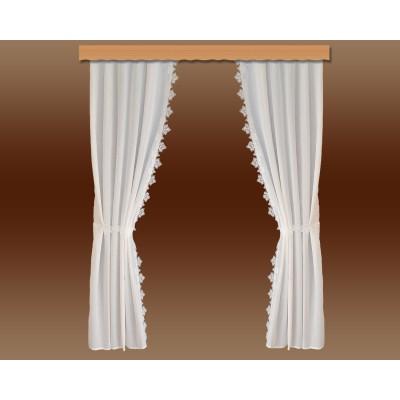 Seitenschalgarnitur Jolanda mit 2 Raffbändern Musterbild