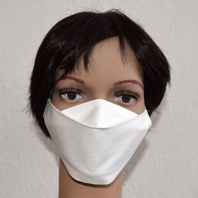 Mund- und Nasen-Maske Universalgröße Behelfs-Mundschutz weiß Beispielbild