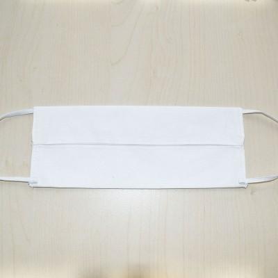 Mund- und Nasen-Maske Universalgröße Behelfs-Mundschutz weiß von Innen