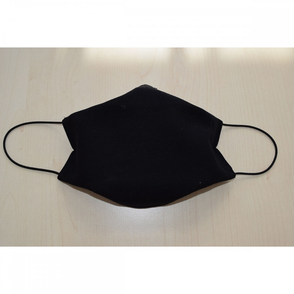Mund- und Nasen-Maske Universalgröße Behelfs-Mundschutz schwarz